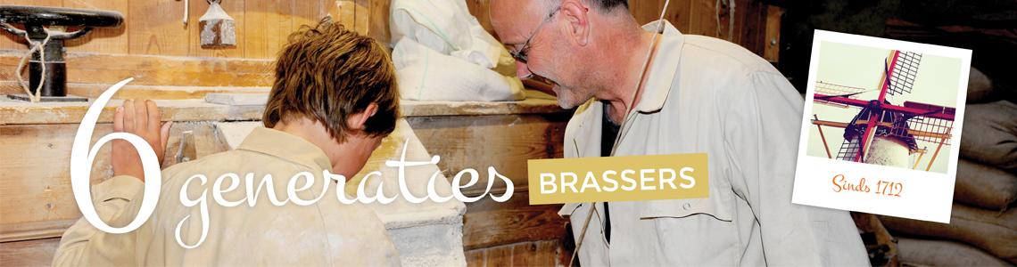Zes generaties Brasser malen op onze molen!